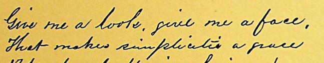 Transcription Tuesday V: Still to be neat