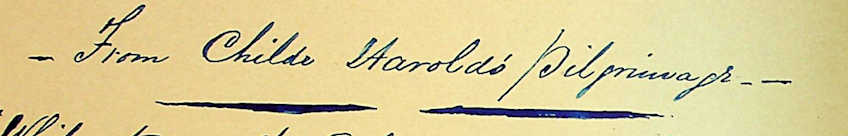 Transcription Tuesday XV: Childe Harold's Pilgrimage – Pride of Rome